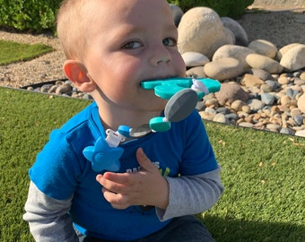 SillyMunk™ Silicone Teething Clip- Racoon
