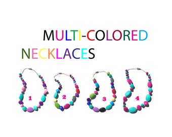 SillyMunk™ Silicone Teething Multi - Color Necklaces