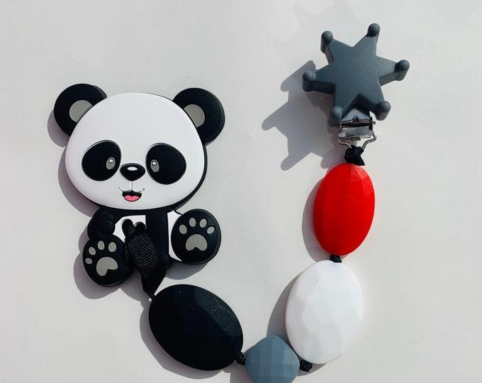SillyMunk™ Panda Teething Clip