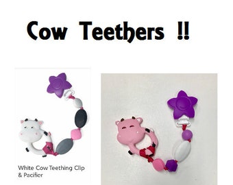 SillyMunk™ Teething Pacifier Clip  SAFE to chew on Silicone Teething Necklace BPA Free for teething babies
