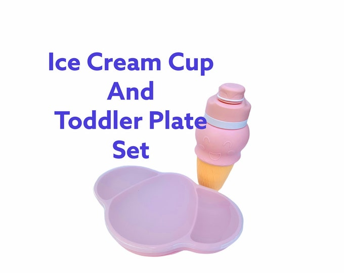 Silicone Ice Cream Cup and baby suction plate
