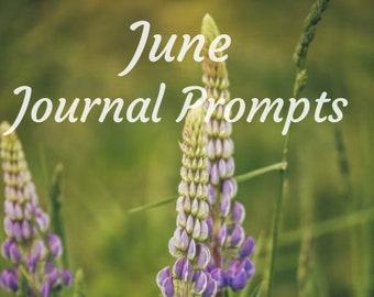 Journal Prompts for June - PDF Download