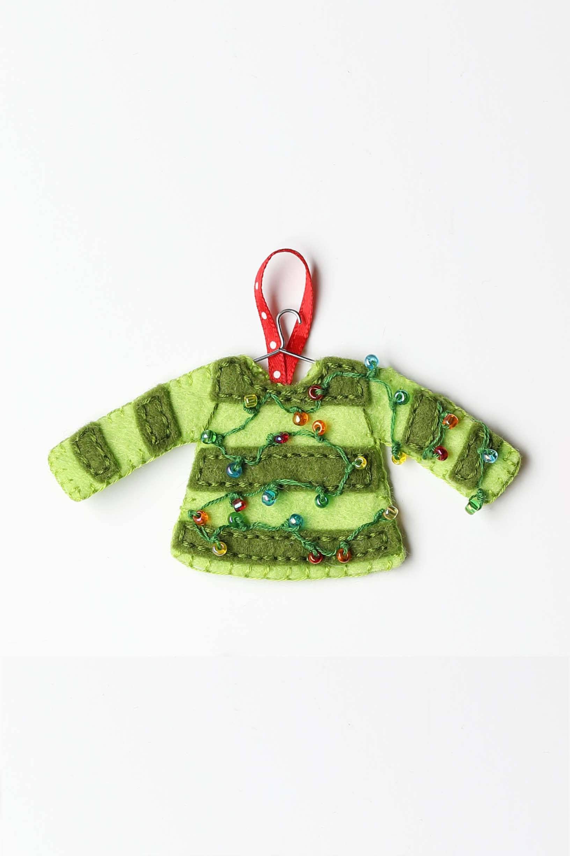 Christmas Sweaters PDF pattern Ugly sweater Ornaments Felt | Etsy