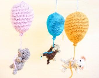 Crib mobile, balloons mobile, baby mobile, balloons baby shower, balloons baby gift, nursery decor