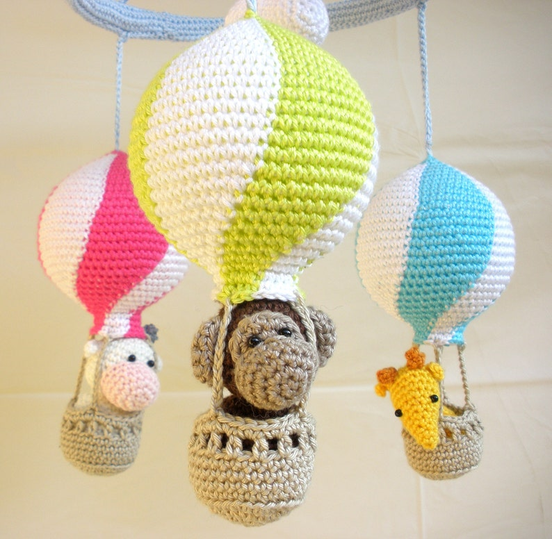 Hot air balloon mobile baby mobile hot air balloons nursery image 0