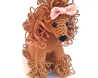 Crochet poodle, poodle stuffed animal, poodle plush, poodle lover gift