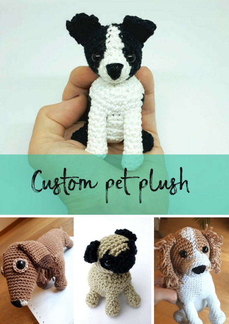 Custom pet memorial plush personalized dog gift image 0