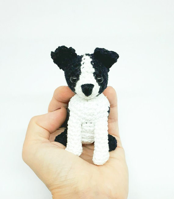 Boston Terrier Amigurumi Crochet Dog Boston Terrier Stuffed Etsy