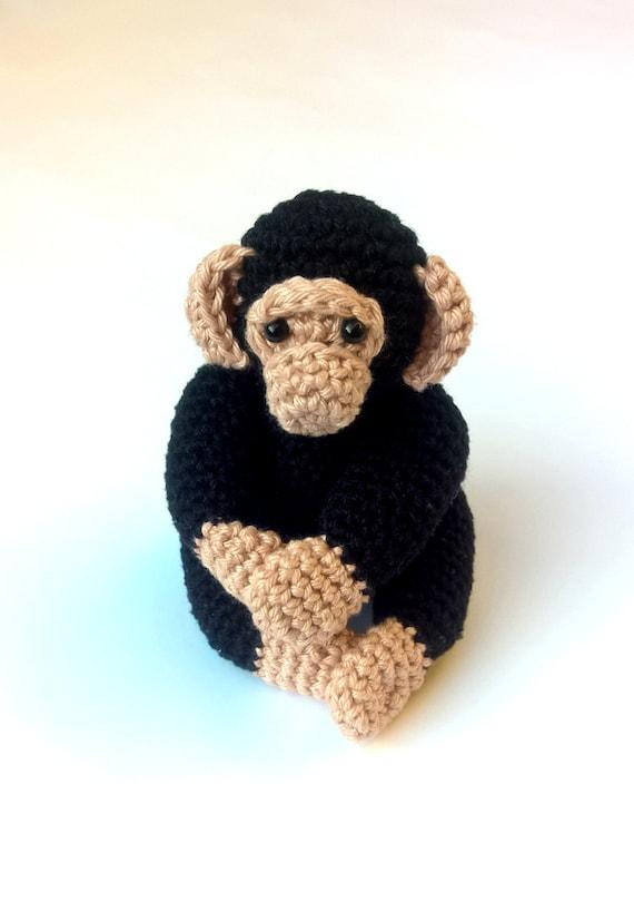 Häkeln Sie Schimpanse Häkeln Sie Amigurumi Affe Häkeln Sie Etsy