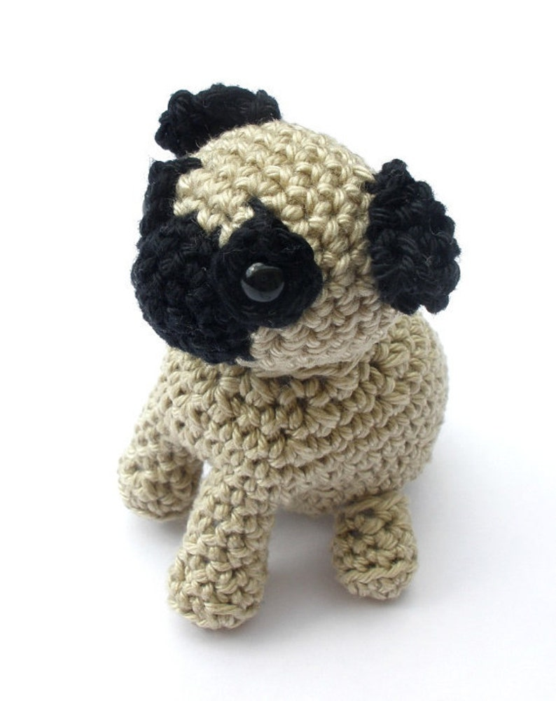 Amigurumi dog pug stuffed animal crochet pug dog pug image 0
