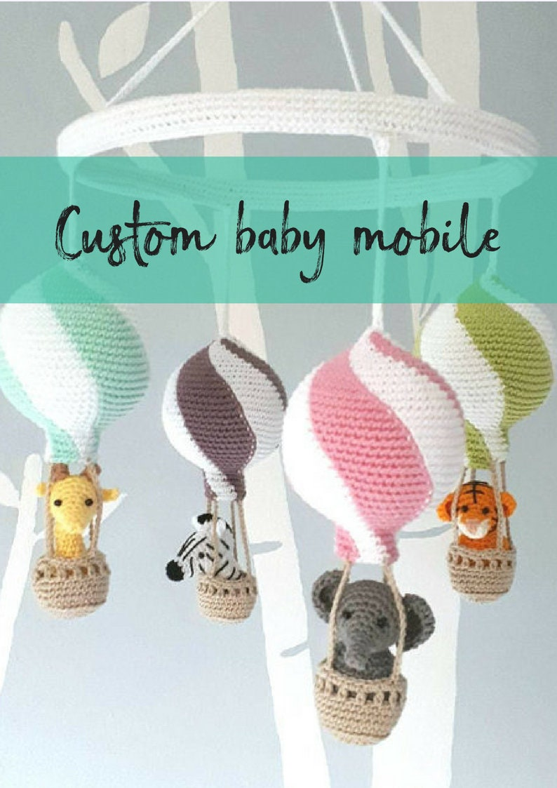 Personalized mobile custom mobile hot air balloon mobile image 0