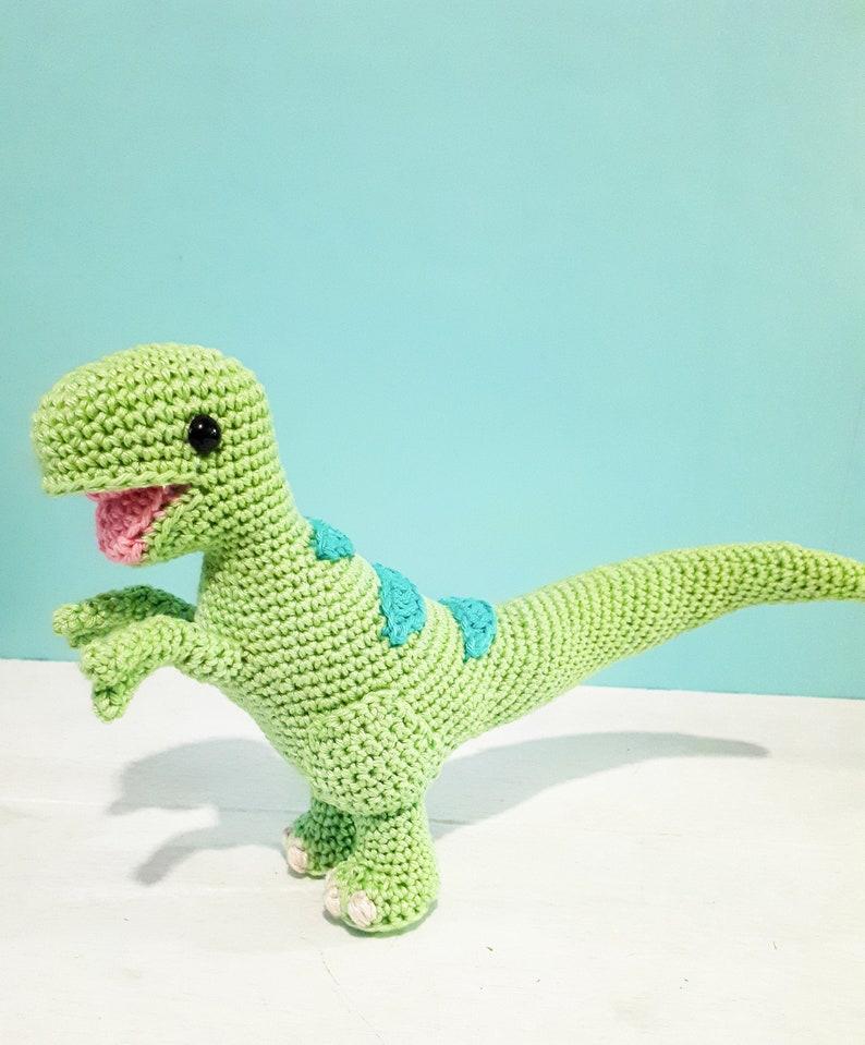 Theo the T-Rex plush toy Crochet dinosaur plush Dinosaur image 0