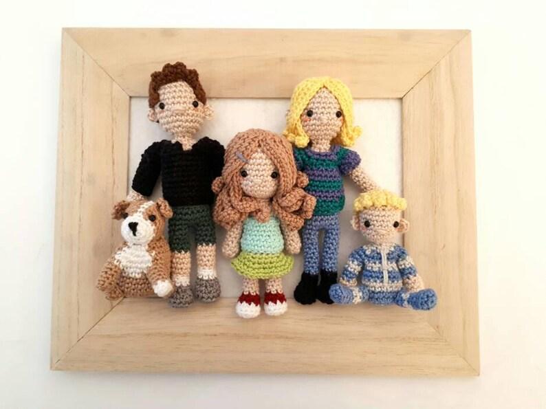 Family portrait custom dolls couple anniversary gift image 0