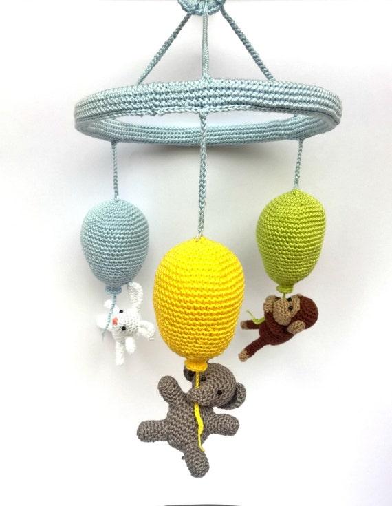 Häkeln Sie Mobile Baby Tiere Mobile Kinderzimmer Mobile Etsy