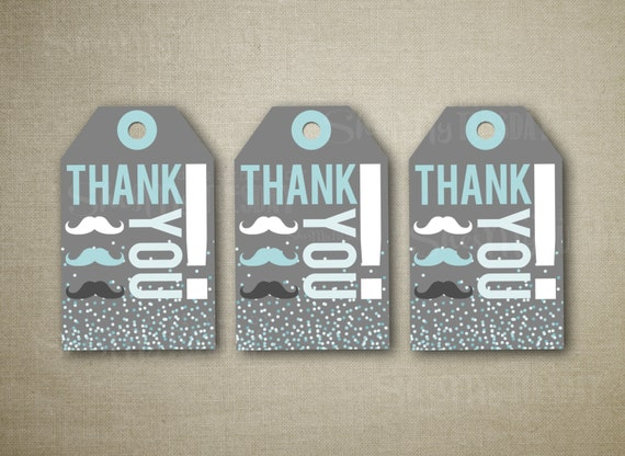 Mustache Baby Shower Mustache Thank You Cards Boy Baby Etsy
