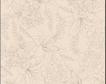 Art Gallery Soften the Volume, Natural Bouquet 11608 designed by AGF Studio - Sold in 1/2 Yard Increments