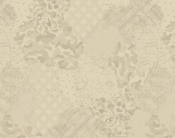 1/2 Yard Faded and Stitched, Faded 774-138 designed by Laura Berringer for Studio 37 of Marcus Bros Fabrics