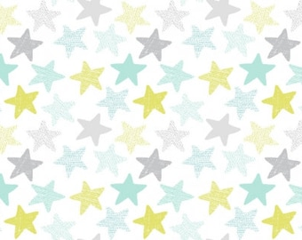 1/2 Yard Dear Stella Stars KNIT Cotton Lycra Jersey 4 way stretch K1152