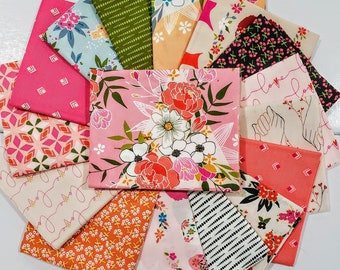 Fabric Bundle Art Gallery Open Heart designed by Maureen Cracknell - 16 Prints -  Pick your cut
