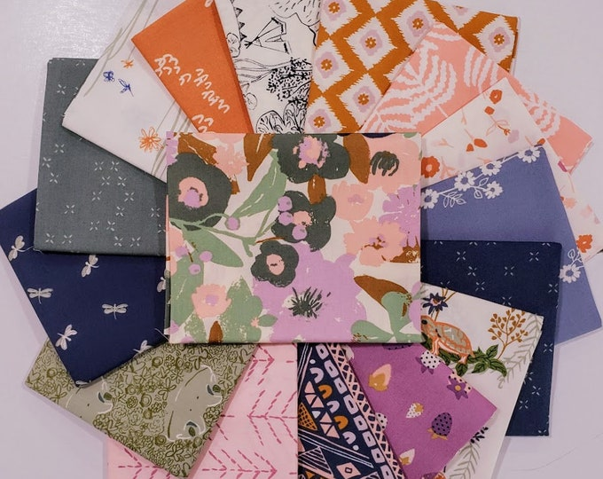 Featured listing image: Fabric Bundle of Lilliput from Art Gallery fabrics designed by Sharon Holland - 16 prints - Pick your cut