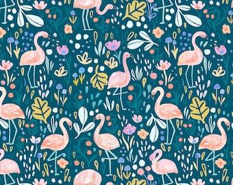 Dear Stella Summer Lovin, Flamingo Fling 1740 designed by Clara Jean - Sold in 1/2 yard increments