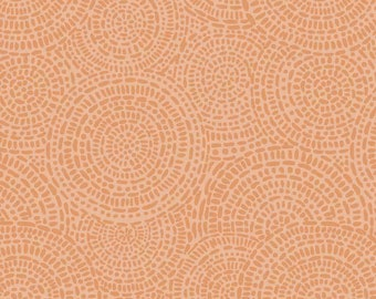 Aztec 4146 DO Orange designed by  P&B Textiles - Sold in 1/2 yard increments