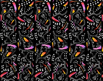 Free Spirit Migration Monarch Stipe in Black  020 designed by Lorraine Turner - Sold in 1/2 yard increments