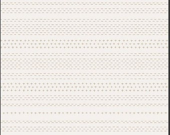 Art Gallery Soften the Volume, Sashiko Mending 11607 designed by AGF Studio - Sold in 1/2 Yard Increments