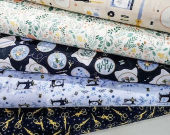 Fabric Bundle of  Dear Stella Sew On and Sew Forth - 5 Prints - Pick your cut