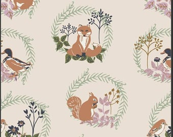 Lilliput, Forest Friends 56702 from Art Gallery fabrics designed by Sharon Holland - Sold in 1/2 yard increments