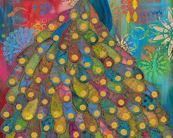 """Free Spirit Pizzazz panel 019 designed by Sue Penn - 22"""" X Width of Fabric"""