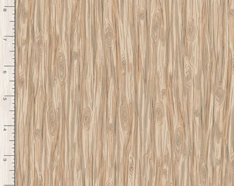 1/2 Yard Timeless Treasure Snow Day Wood Grain 7559 by Bunnies by the Bay