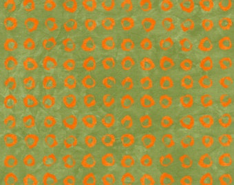 1/2 yard Rivers Bend  Modern Earth, Circles in Lime  2170-13 designed by Janine Burke