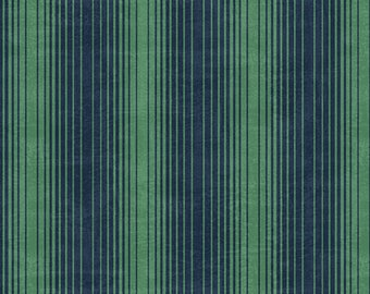 1/2 yard Marcus Bros Dance at Dusk, Fan Stripe in Green 852 114 designed by Sarah J
