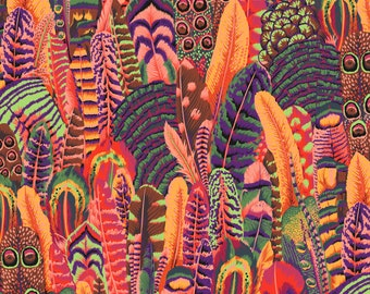 Feathers in Summer fabric designed by Philip Jacobs PJ055 for Kaffe Fassett  - Sold in 1/2 yard increments