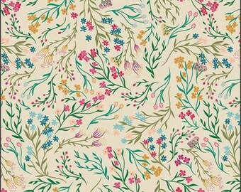 1/2 Yard Art Gallery Fabrics Flower Society, Windswept Illuminated 99108 designed by AGF Studios