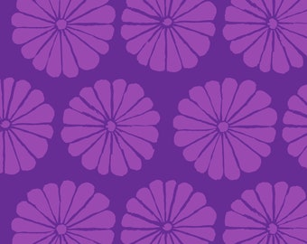 Damask Flower in Purple fabric designed by Kaffe Fassett GP183  - Sold in 1/2 yard increments