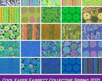 Kaffe Fassett Feb 2021 Release Cool colorway FQ Bundle - 25 FQs