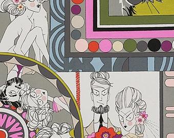 Ghastlie, Ghastlie Love in Snapdragon 8788B from Alexander Henry Fabrics - sold in 1/2 yard increments