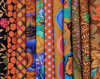 Philip Jacobs/ Kaffe Fassett  Fabric Bundle - Brown Colorway  14 different fabrics
