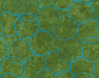 1/2 yard Rivers Bend  Modern Earth, Rings in Avocado  2172-24 designed by Janine Burke