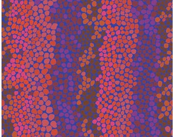 Pebble Mosaic in Prune fabric designed by Brandon Mably BM042 for Kaffe Fassett - Sold in 1/2 yard increments