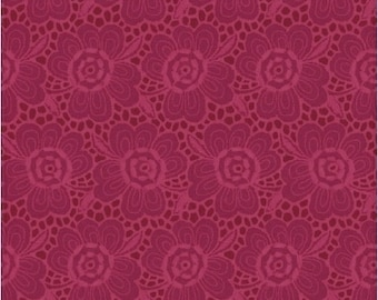 1/2 yard Let it Grow, Lace in Red 546-524 designed by Nancy Rink for Studio 37 of Marcus Bros Fabrics
