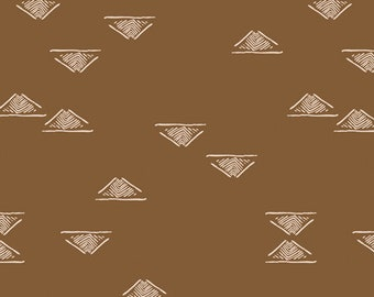 Art Gallery Homebody Domestic Charm in Walnut 44951 designed by Maureen Cracknell - Sold in 1/2 Yard Increments