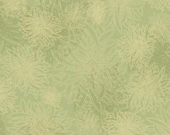 1/2 Yard Art Gallery Fabrics Floral Element in Pear Green FE 500