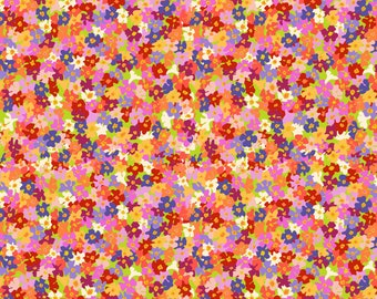 Free Spirit Migration Butterfly Bush Petals  019 designed by Lorraine Turner - Sold in 1/2 yard increments