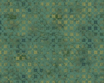 1/2 yard Las Flores 978 Green designed by Nancy Rink for Studio 37 of Marcus Bros Fabrics