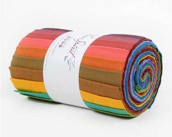 """Kaffe Fassett Woven Shot Cotton 6"""" strip design roll - 20 pieces"""