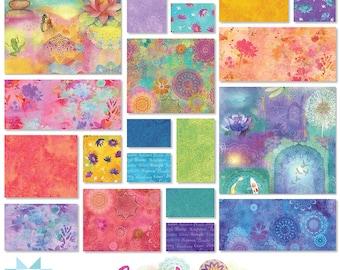Clothworks Good Vibes  2.5 Inch Stripes  designed by Sue Zipkin - 40 Pieces