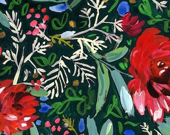 1/2 Yard Dear Stella December to Remember Holiday Blooms 1581 designed by August Wren